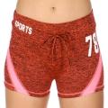 Wholesale E12A Workout shorts Orange/Pink