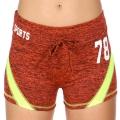Wholesale E12A Workout shorts Orange/Lime