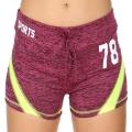 Wholesale E12A Workout shorts Purple/Lime