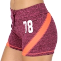 Wholesale E12A Workout shorts Purple/Coral