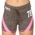 Wholesale E12A Workout shorts Grey/Pink