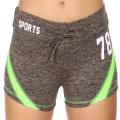Wholesale E12A Workout shorts Grey/Lime