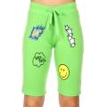 Wholesale P04A Smiley face active bermuda shorts Green
