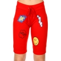 Wholesale P04A Smiley face active bermuda shorts Red