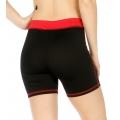 Wholesale P05 Contrast waistband yoga shorts RD