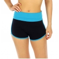 wholesale B12 Cotton dolphin shorts Turquoise/Navy
