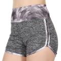 Wholesale E44A Brush stroke print heathered active shorts Grey