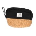 Wholesale T10B Cotton blend eco-friendly pouch with side handle BK