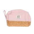 Wholesale T10B Cotton blend eco-friendly pouch with side handle PK