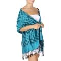 Wholesale D13 Small & large polka dot Pashmina Turquoise