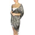 wholesale D05 Leopard print Pashmina GY  fashionunic