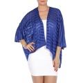 wholesale H39 Jersey see through stripe bolero Blue