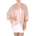 wholesale H39 Jersey see through stripe bolero Pink