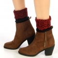 Wholesale BX00 two tone marled knit boot toppers cuff Navy