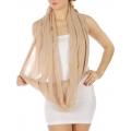 wholesale Pearl trim infinity scarf BG fashionunic