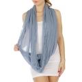 wholesale Pearl trim infinity scarf BL fashionunic