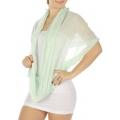 wholesale Pearl trim infinity scarf MT fashionunic