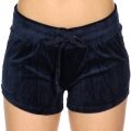 Wholesale S08A Drawstring solid velour shorts Navy