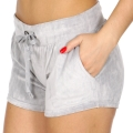 Wholesale S08A Drawstring solid velour shorts Heather Grey