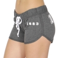 Wholesale R20C 1983 print drawstring french terry shorts Heather/Charcoal White