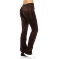 wholesale K41 Solid cotton velour pants Brown