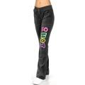 wholesale K57 GVP07 Cotton velour pants print Black