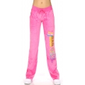 wholesale K57 GVP08 Cotton velour pants print Fuchsia