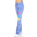 wholesale K57 12 Cotton velour pants with print Blue