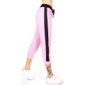 wholesale N06 Contrast cotton capri pants Pink/BK