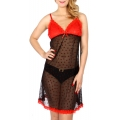 Wholesale K64A Hearts lace sexy babydoll Black/Red