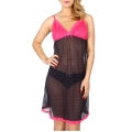 Wholesale K64A Hearts lace sexy babydoll Black/Pink