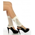 wholesale N00 Cotton heart lace ribbon boots cuffs Ivory