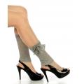 wholesale N00 Cotton heart lace ribbon boots cuffs L.Grey