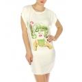 wholesale K22 Girl print cotton sleep shirt Green