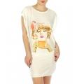 wholesale K22 Girl print cotton sleep shirt Yellow
