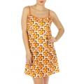 wholesale K20 Flower print cotton slip Orange