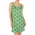 wholesale K20 Flower print cotton slip Green fashionunic