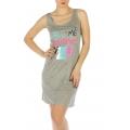 wholesale K22 Call me tank sleep shirt Grey fashionunic