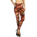 wholesale B21 Floral jewelery fur leggings Peach