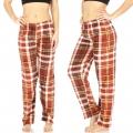 Wholesale B17A Ladies plush plaid pajama pants ORG