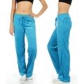Wholesale M27 Solid velour active pants Blue