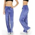 Wholesale M27 Solid velour active pants Purple