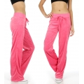 Wholesale M27 Solid velour active pants H.Pink