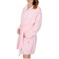 Wholesale U36 Pink ribbon plush robe Light Pink