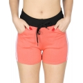 Wholesale B10 Side Stripes Fleece Shorts Coral