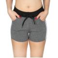 Wholesale B10 Side Stripes Fleece Shorts D.Gray