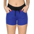 Wholesale B10 Side Stripes Fleece Shorts R.Blue