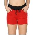 Wholesale B10 Side Stripes Fleece Shorts Red