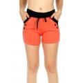 Wholesale B15 Button Accent Fleece Shorts w/ Pockets Coral