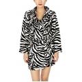 Wholesale T85 Ladies extra cozy plush robe White Zebra
